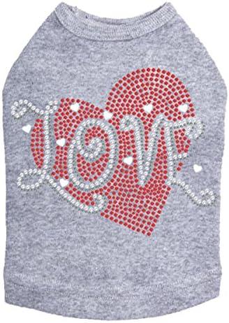 High order Love Red Heart - Dog Shirt XL Gray Heather Baltimore Mall
