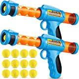 Bedwina Foam Ball Blaster – (Pack of 2) Rapid Fire Launcher and Foam Ball Gun for Kids, Fun Accuracy Shooting Game, Includes Total of 12 Soft Foam Balls