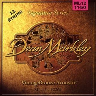 Dean Markley 2204 - Juego de cuerdas para guitarra acústica, 12 cuerdas