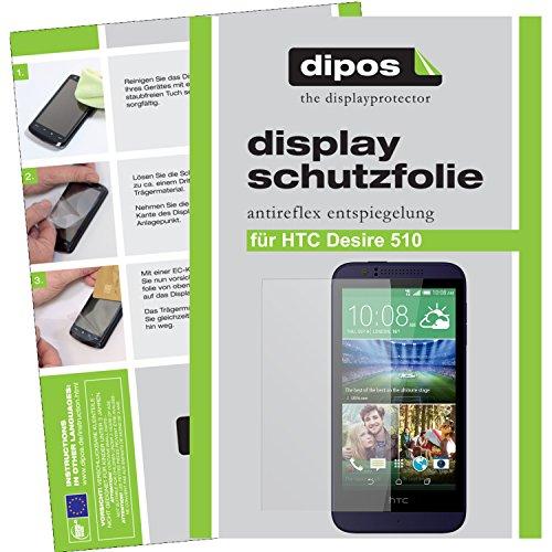 dipos I 6X Schutzfolie matt kompatibel mit HTC Desire 510 Folie Bildschirmschutzfolie