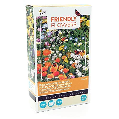 Mélange de graines pour abeilles et papillons - Mélange de fleurs composé de plus de 15 variétés pour 15 m²