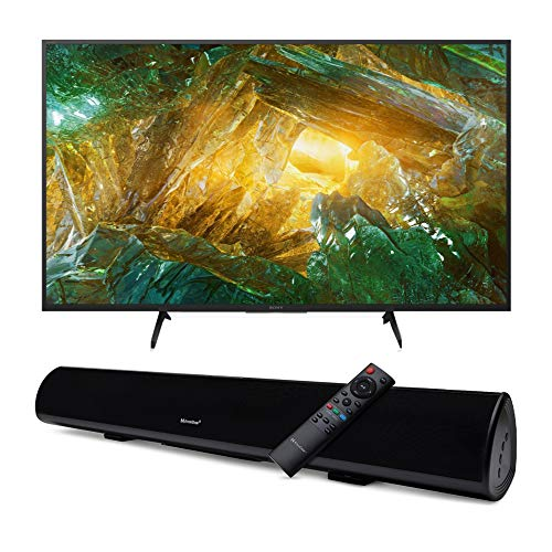 Sony XBR-X800H 43-Inch LED 4K Ultra HD HDR Android Smart TV with Knox Gear Wireless TV Soundbar with Bluetooth 5.0 Bundle (2 Items)