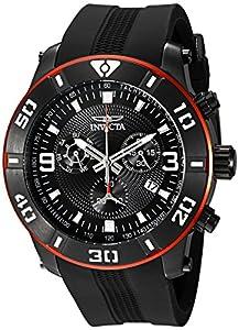 Invicta Men's 19825 Pro Diver Analog Display Swiss Quartz Black Watch