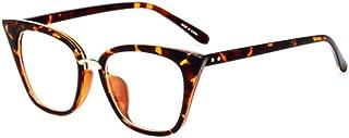 Aiweijia Unisex Classic Sunglasses Solid Color Printed Metal Full Frame Cat Eye Bridge Fit Eyeglasses