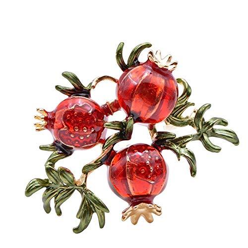 PicZhiwenture Brosche Red Granatapfel Brosche Herbst Obst Pin Emaille Für Frauen Mantel Zubehör Günstigen Preis 2020 Geschenk