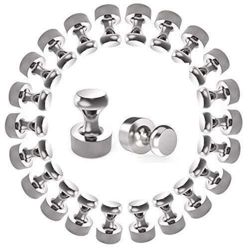 Neodym Magnete 24 Stück N52 Mini Magnet mit Aufbewahrungsbox für Magnettafel, Kühlschrank, Kegelmagnete, Notenmagnete,vernickelter Stahl Magnete (12 x 16 mm)
