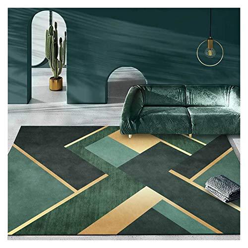 GJCC Carpets Home Large Area Rugs for Living Room, Modern Soft Carpet for Bedroom Nursery Dorm Kids Room Home Decorative, Washable Door Mat,Green,3