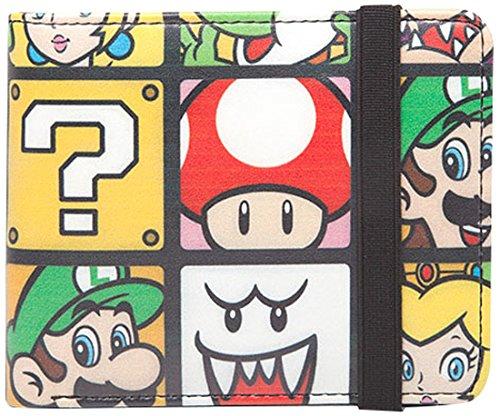 Preisvergleich Produktbild Super Mario Characters Geldbörse mit elastischem Band Nintendo