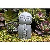 Marjory Statue de Jizo - Le parfait petit Bouddha de Jizo - Sculptures mignonnes - Statuettes pour votre maison, bureau, bibliothèque, ornement de jardin, pelouse, décoration intérieure