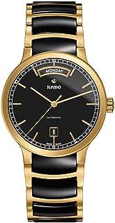ساعت مچی Rado Centrix Day-date Black Dial Gold با روکش طلا و سرامیک سیاه R30157162