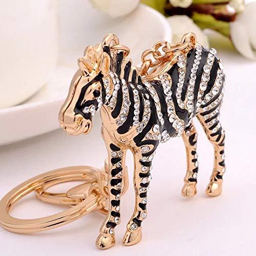 N/Een Creatief Paard Sleutelhanger Kristal Paard Auto Stad Sleutelhangers Vrouwelijke Tassen Hanger Accessoires Bedel Sieraden Sleutelhangers