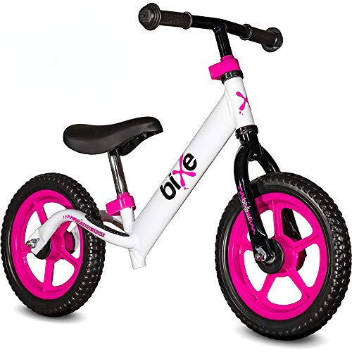 Pink (4LBS) Aluminum Balance Bike for Kids and Toddlers - 12 No Pedal Sport Training Bicycle for Children Ages 3,4,5