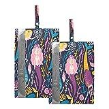 Hunihuni - Bolsa de viaje para zapatos con cremallera, diseño de sirena, color azul marino