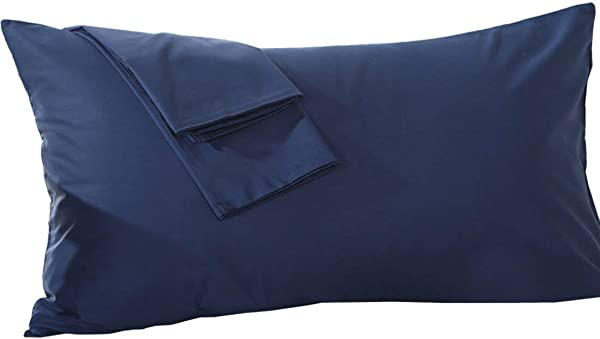 Body Pillow Case 1PC 100 Egyption Cotton Hotel Quality Laxuries 600 Thread Count Body 20x54 Size Navy Blue Solid Zipper Closer
