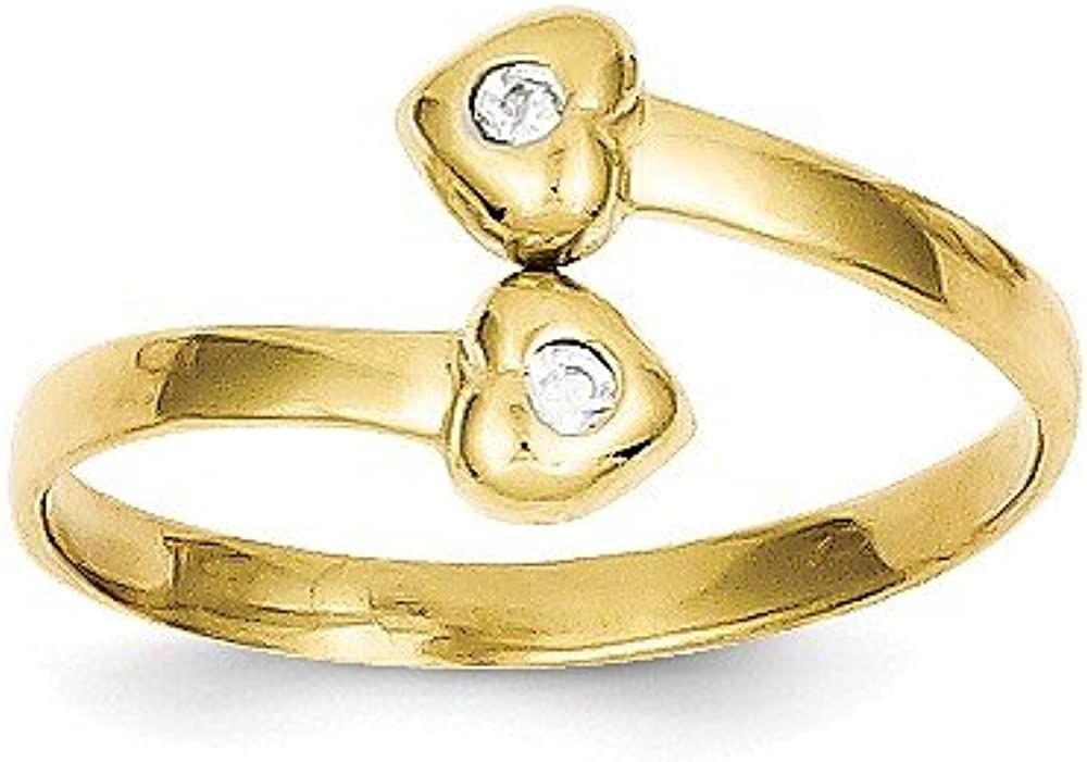 CoutureJewelers 10k Cubic Zirconia Toe Ring
