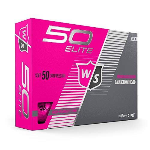 Wilson Staff Fifty Elite Golf Ball, Pink
