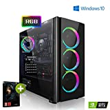 Megaport Gaming PC AMD Ryzen 5 2600X 6x4.20 GHz Turbo • Nvidia GeForce RTX 2060 6GB • 240GB SSD • 1000GB Festplatte • 16GB DDR4 RAM • Windows 10 Home • WLAN Gamer pc Gaming