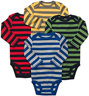 Carters 4 Pack Bodysuits - Stripes Size 9 Months
