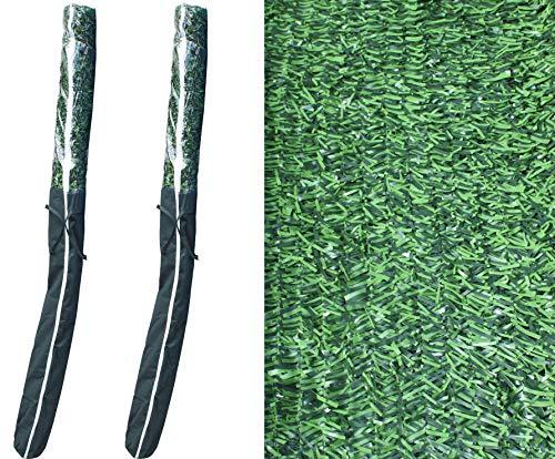 Pal Ferretería Industrial 2 Rollos de seto Artificial ignífugo Verde de ocultación 3x2m
