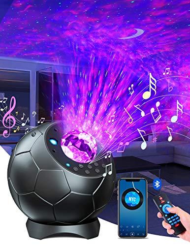 Lupantte Sternenhimmel Projector,360° Drehung Wellen Sternenprojektor,30 Farbmodi LED Sternenhimmel Projector Mit 3D Redner/Timer,Sternenhimmel für Dekoration/Geschenke/Nachtlicht, Erwachsener/Kind