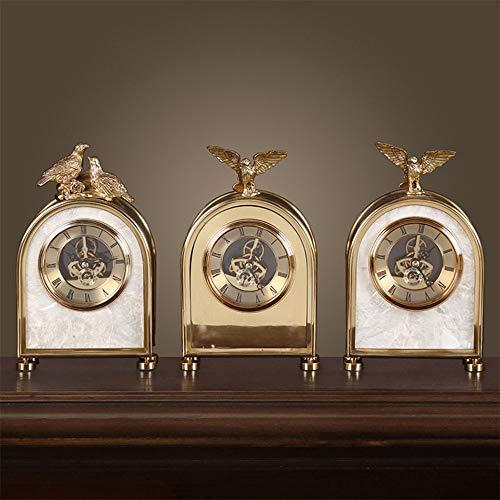 HMSCC El Cobre Adornos Hechos a Mano Adornos de la Manera Creativa Relojes de Europa y América del Crafts Inicio (Color : B)