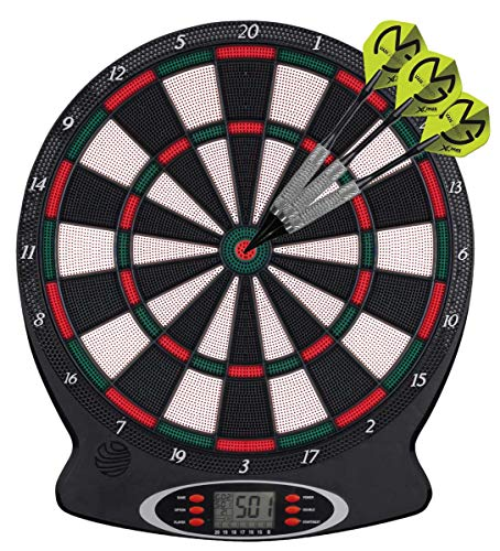 XQ Max Michael Van Gerwen Limited Edition - Elektrisches Dartboard mit LCD Display inkl. 159 Verschiedene Variationen und 6X Dartpfeilen