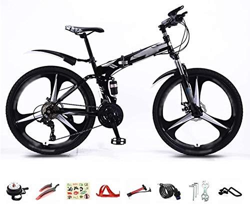 HFFFHA Folding Bike for Le Signore e Gli Uomini - 26' Fold Up Sospensione City Bike Leggero Ciclo MTB Completa della Bicicletta con Il Doppio Freno a Disco (Color : B)