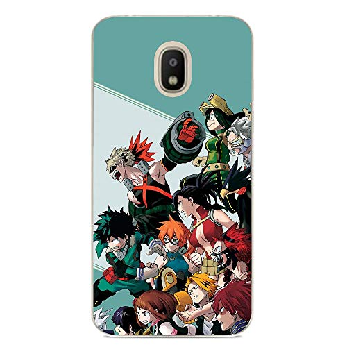 Ultra Thin Clear Soft TPU Rubber Anti-Slip Phone Case Cover for Samsung Galaxy J7 2018-My Hero-Academy Anime-Boku 10
