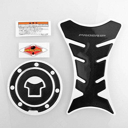 Sedeta Progrip Carbon Fiber Motorcycle Tank Protector + Gas Cap for Honda CBR 600RR CBR250R CBR929RR F3 F4 F4i DIY