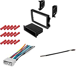 CACHÉ KIT877 Bundle with Complete Car Stereo Installation Kit Compatible with 2005-2007 Dodge Charger - in Dash Mounting Kit, Harness, Antenna Adapter for Single pr Double Din Radio Receivers (4 Item)