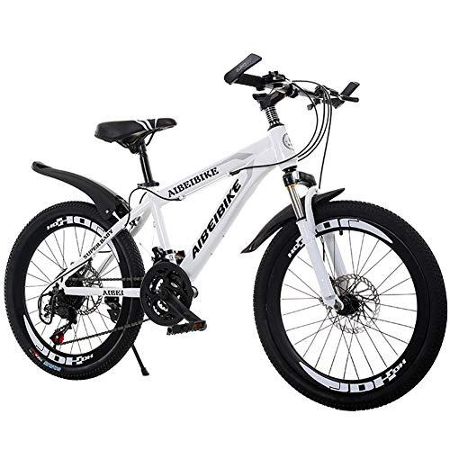 LNX 26 Pulgadas Bicicleta de montaña - 21/24 Velocidad Velocidad Variable Acero de Alto Carbono - para Adulto Niños Adolescentes Estudiante - Freno de Doble Disco