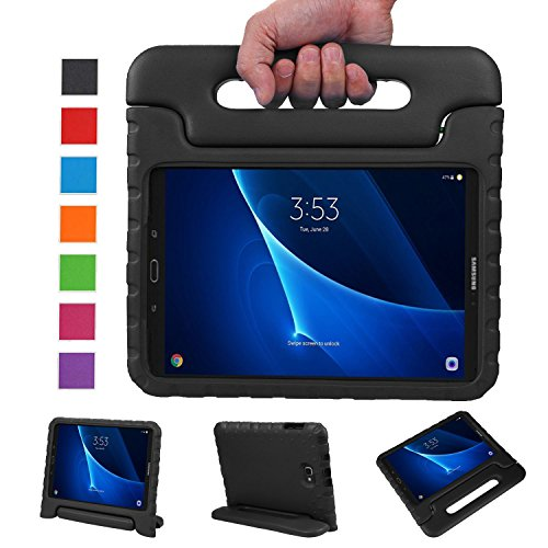 NEWSTYLE Samsung Galaxy Tab A 10.1 Kids Case (2016 NO S Pen Version) - Shockproof Light Weight Protection Handle Stand Case for Galaxy Tab A 10.1 Inch (SM-T580 / T585) Tablet 2016 Release (Black)