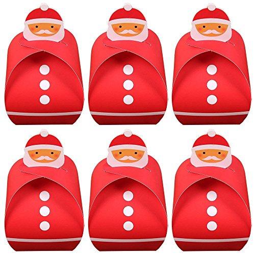 Dahanbl Thème de Noël Papier cadeau Candy Box gâteaux Cookies Boîtes d'emballage