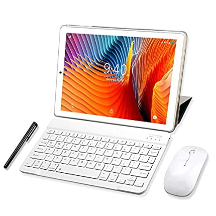 Tablet 10 Pulgadas YOTOPT, 4GB de RAM y 64 GB de Memoria 4G LTE Tableta Android 9.0 Certificado por Google GMS Dobles SIM y TF, GPS WiFi Soporte (Oro)