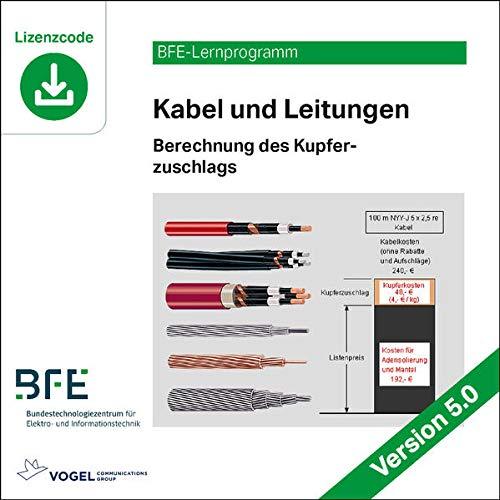 Kabel und Leitungen: Berechnung des Kupferzuschlags / Version 5.0 (BFE-Lernprogramm)