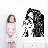 nkfrjz Mädchen Kopf Fototapete Startseite Cool Creative Decor Wohnzimmer Dekor Q wandaufkleber kinderzimmer 42x52cm