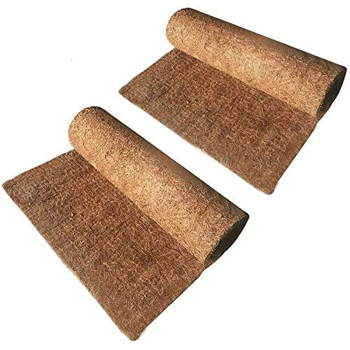 Hamiledyi Reptile Carpet Natural Coconut Fiber Tortoise Carpet Mat for Pet Terrarium Liner Reptile Supplies for Lizard Snake Chamelon Turtle Bedding Bunny Rabbit Mat (2sheets)