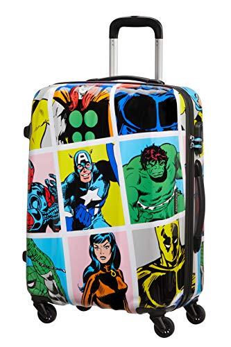American Tourister Marvel Legends - Spinner M, Maleta, 65 cm, 62.5 L, Multicolor (Marvel Pop Art)