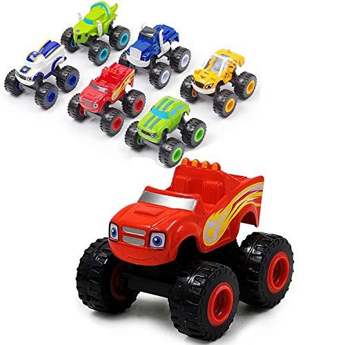 VI AI Blaze y los Monster Machines - Juego de camiones de juguete, ideal como regalo para niños (6piezas)