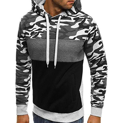 UINGKID Herren Kapuzenpullover Sweatshirt Camouflage Plus Size Pullover Langarm Tops Bluse