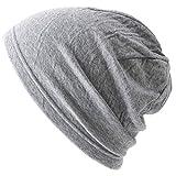 CHARM 日本製 医療用帽子 薄手 オーガニックコットン100% [ Mサイズ/ライトグレー ] MIX ガーゼ 帽子
