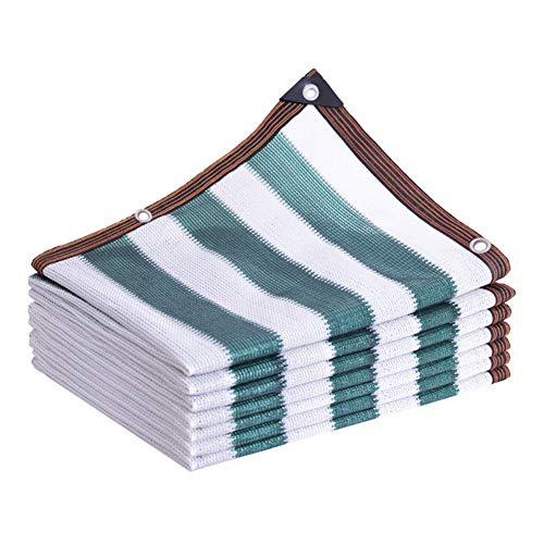 Gymqian Sombreado Netting Camo Netting Shade Paño Netificación de la Sombra con Los Ojeros Espesando Rayas Verdes Sombra de Shade Respons Scaff Netting Netwause Privacidad Cerca de Plantas Cu