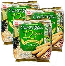 Ovo-vegitarian Food Crispi Roll 12 Grain Non-friend & Energy Snack (3 Pack of 12) 크리스피 롤 12 곡물 (3 Pack of 12)
