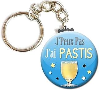 Porte Clés Chaînette 3,8 centimètres j' peux pas j' ai Pastis Idée Cadeau Accessoire Humour Homme Femme Excuse
