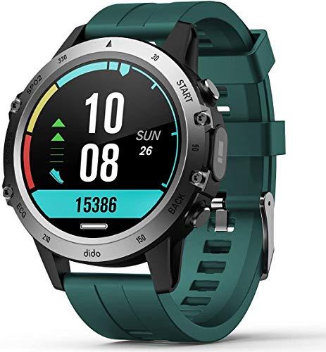 SANAG Smart Watch, Rastreador de Actividad Física para Mujeres y Hombres, Reloj de Pulsera con Frecuencia Cardíaca, Monitor de Sueño, Podómetro, Pantalla táctil IP68, Resistente al Agua(Verde)