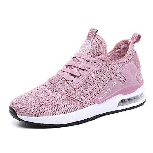 tqgold® Sportschuhe Herren Damen Laufschuhe Sneakers Turnschuhe Gym Fitness Leicht Schuhe(Rosa,Groß 37)