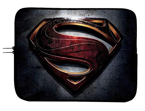 Superman DC Comic Superhero Laptop Sleeve Notebook Case Sleeve Bag 13 13.3' Mac Book Pro/Mac Book Air Surface Pro Laptop/Tablet Water Repellent Neoprene Cushioned Case