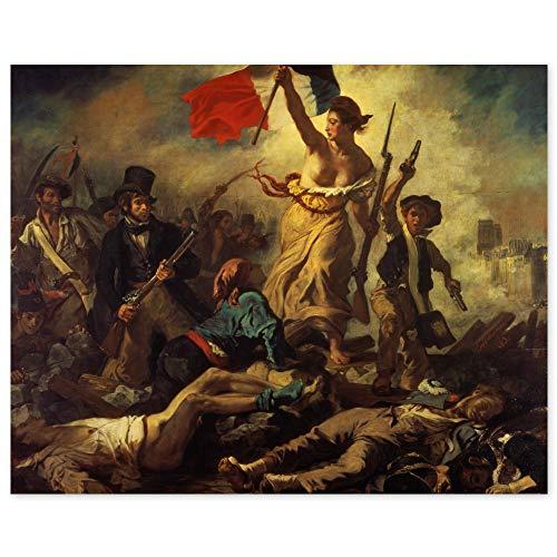 JUNIWORDS Poster, Eugène Delacroix, Die Freiheit führt das Volk, La Liberté guidant le peuple, 38 x 30 cm