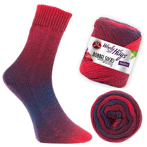 Woolly Hugs Bobbel Socks Fb. 251, Zwei identische Socken Stricken, 100g Sockenwolle mit Farbverlauf