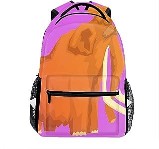 3D Printing Mammoth Mammal Ice Age Extinct Animal School Bookbag Travel Backpack 11.5x8x16